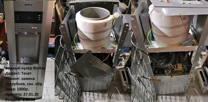 Фото ремонта кулера в нашей мастерской